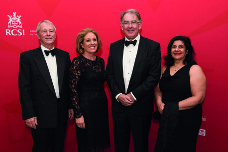 18/08/2018, Medicine, 1983: Dr Stephen Mulvey, Dr Patricia Fitzgerald, Dr Patrick Feeney and Dr Suad Ismail at the RCSI Alumni Gathering Gala Dinner in the Round Room at The Mansion House, Dawson Street, Dublin 2 (Picture by: Lafayette Photography)
