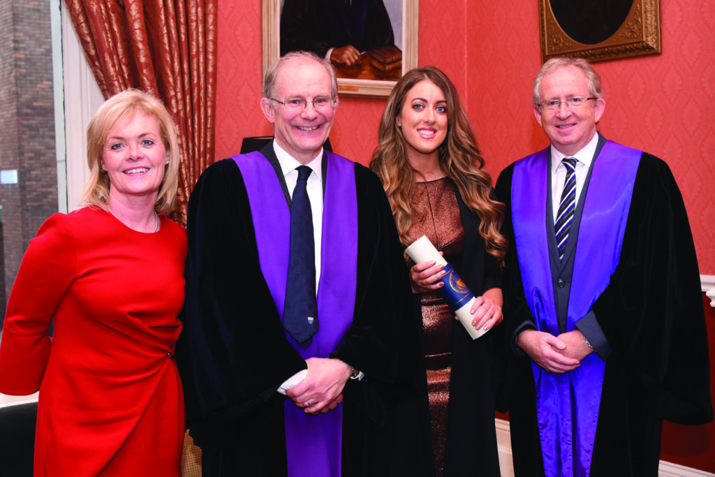 RCPI Membership Conferring Ceremony  Ms Mary McCarthy, Prof Hilary Humphreys, Pro-President RCPI, Dr Orla McCarthy, Prof Peter McCarthy.