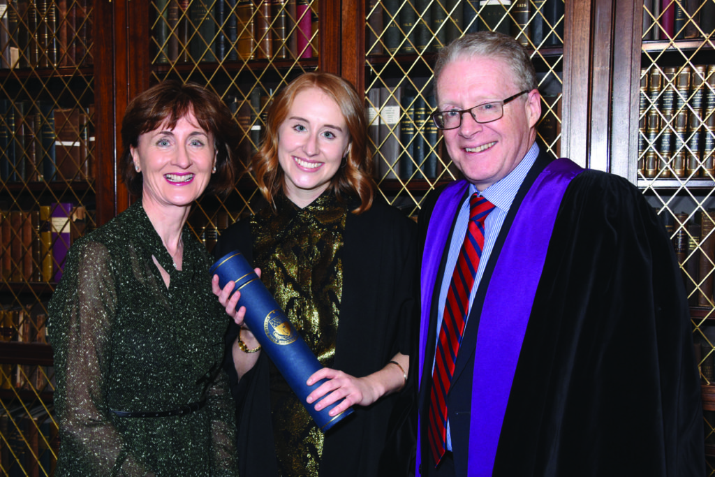 RCPI Membership Conferring Ceremony  Ms Clare Lynch, Dr Fiona Lynch, Dr Bryan Lynch.