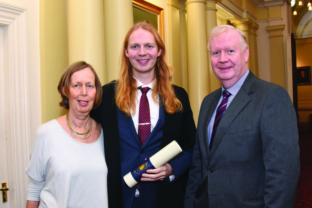 RCPI Membership Conferring Ceremony Ms Anne-Marie Cosgrave, Dr Niall Cosgrave, Dr Paul Cosgrave.