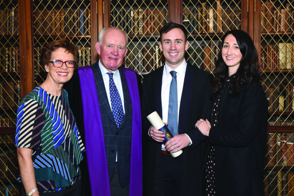 RCPI Membership Conferring Ceremony  Ms Marion Bredin, Dr Cathal Bredin, Dr Philip Bredin, Dr Catherine Rowland.