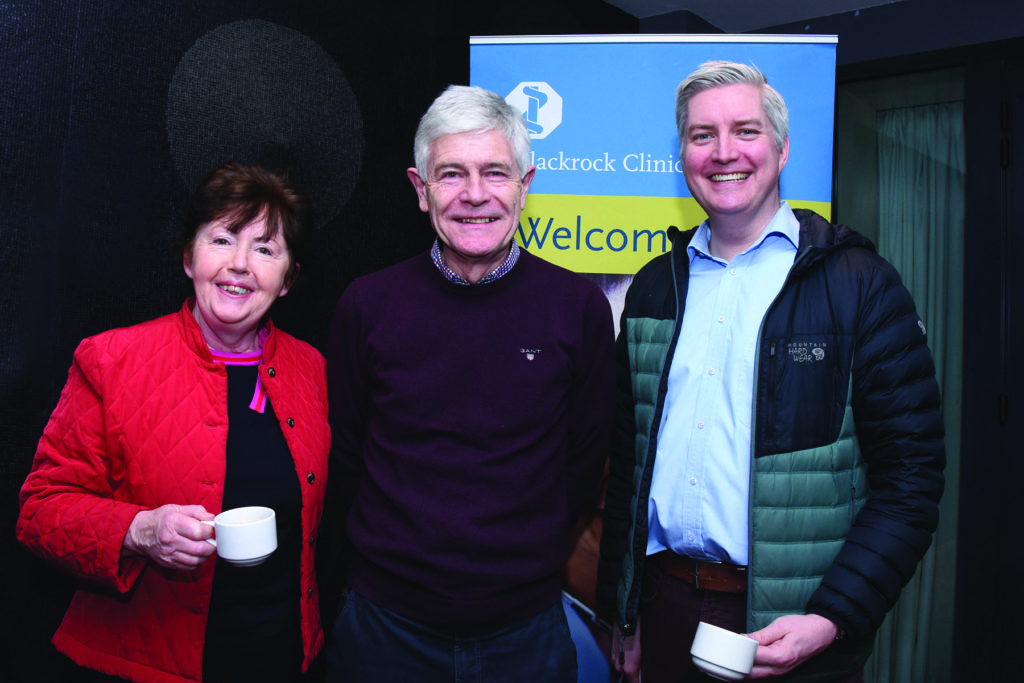 Blackrock Clinic General Practitioner Study Morning Mens' Health Dr. Miriam Walsh, Dr. Joe Cunningham, Dr. Chris Healy.
