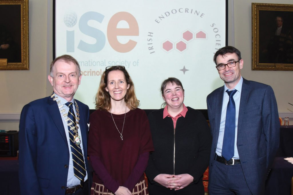 Irish Endocrine Society & The International Society of Endocrinology Joint Symposium   Prof Brendan Kinsley, President Irish Endocrine Society, Prof Suzanne Norris, Dr Amy Jayne McKnight, Dr Diarmuid Smith.