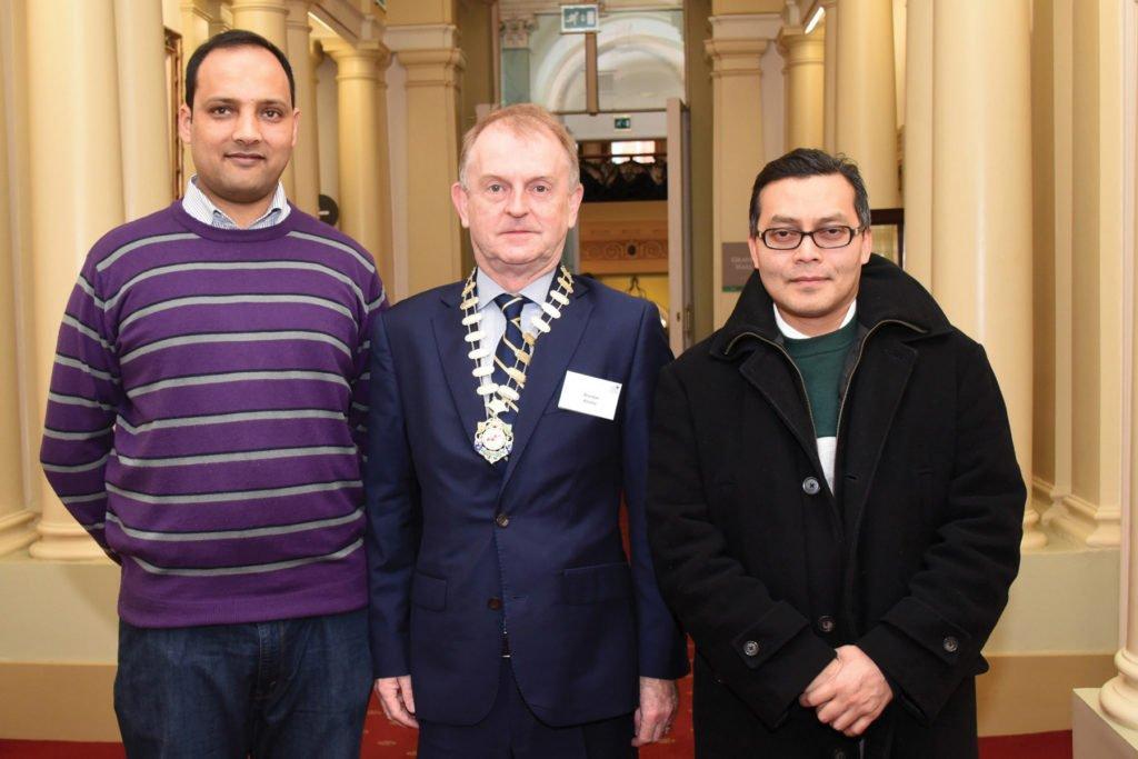Irish Endocrine Society & International Society of Endocrinology Joint Symposium  Dr Nusrat Awan, Prof Brendan Kinsley, President Irish Endocrine Society, Dr Arimin Ma.