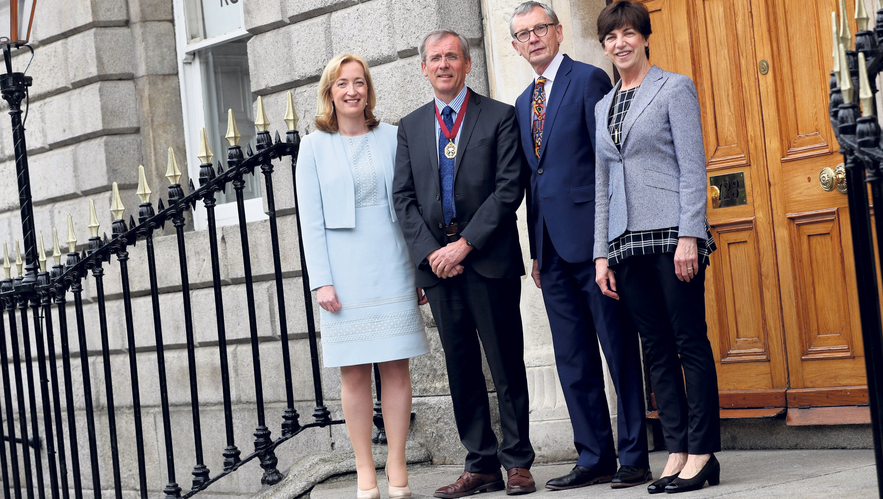 09-07-2019 NO REPRO FEE MAXWELLS DUBLIN  National Conference on open disclosure and medical professionalism at RCSI  PIC SHOWS:Pictured ahead of the national conference on open disclosure and medical professionalism at RCSI today are Prof Dubhfeasa Slattery, RCSI and BSHS Chair in Medical Professionalism, Mr Kenneth Mealy, RCSI President, Dr Gabriel Scally, author of the scoping inquiry into the CervicalCheck Screening Programme and Prof Jo Shapiro, surgeon at Boston's Brigham and Women's Hospital and Associate Professor of Otolaryngology at Harvard Medical School. RCSI is a leader nationally in professionalism, incorporating it as a key theme throughout the undergraduate curriculum and providing postgraduate training opportunities for multi-disciplinary healthcare professionals' education. PIC: NO FEE, MAXWELLPHOTOGRAPHY.IE